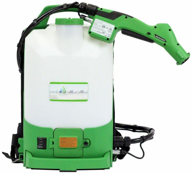 Équipement de pulvérisation pour désinfection électrostatique